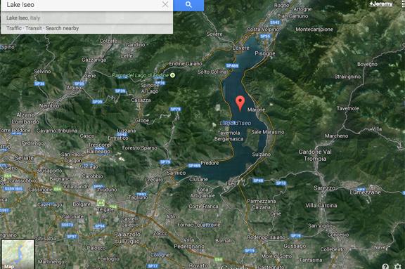 google map lake iseo franciacorta