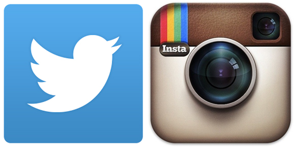 Image result for Image of an instagram and twitter logo