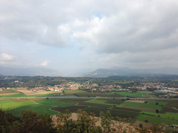 view from monte orfano